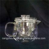 Potenciômetro do chá da alta qualidade transparente e chaleira de vidro baratos 370g ajustado