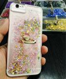 주문 액체 불꽃 iPhone를 위해 보편 투명한 TPU 반지 홀더 전화 덮개 6 7