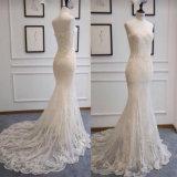 Vestido de casamento nupcial do destino da sereia da forma