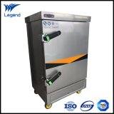 Máquina comercial automática del vapor del arroz de la No-Huella digital