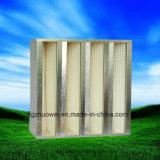 Mini filtro de la batería HEPA del compacto V del plisado de Ventilaton