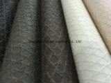 Cuir synthétique de PVC de configuration de tissu pour des meubles de sofa avec l'impression
