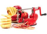 Máquina de la máquina de cortar de Apple Peeler Corer con la base de la succión del vacío - arrabio que gira Spiralizer Apple Peeler para la encimera con las láminas Esg10159 del acero inoxidable