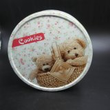 Round Cartoon Tin Box para Doces e Alimentos (R005-V8)