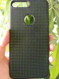 Silicone Hole DOT Étui de couverture de téléphone de dissipation de chaleur pour iPhone 7/7 Plus