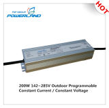 driver impermeabile corrente costante programmabile esterno di 200W 0.84A 142~285V LED