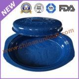 탄소 강철 옥외 사용 사기질 타원형 Roaster+Bucket+Pan+Pot 취사도구 세트
