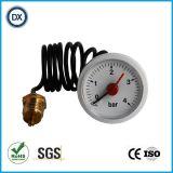 manomètre 002 37mm capillaire d'indicateur de pression d'acier inoxydable/mètres de mesures