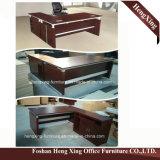 (HX-RY0039)マホガニーL形の支配人室の机MFCのオフィス用家具