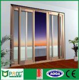 Porte coulissante horizontale de rendement optimum et porte Pnocsd0028 d'aluminium