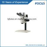 Edelstein-Schmucksachen prüfen Mikroskop auf bessere Qualität über