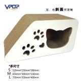 Подгонянная игрушка кота Scratcher кота наклона Corrugated с 3 размерами