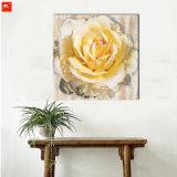 Gran tamaño flores pintura al óleo con marco para la decoración