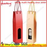 Rectángulo acanalado durable de la impresión de encargo del fabricante para el empaquetado del vino