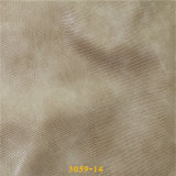 Cuir de chaussure chaud d'unité centrale de matériaux de textiles de vente avec la configuration de lézard