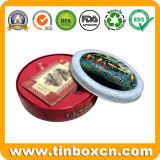 Ronda de metal de contenedores para regalo caja de la lata de embalaje, de lata redonda