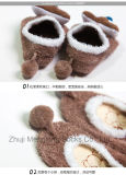 Calcetines suaves del zapato de bebé de los calcetines del deslizador de los zapatos de la caída y del invierno