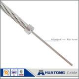 Fil galvanisé d'acier à haute limite élastique de câble de haubanage de fil de carbone de fil d'acier d'ACSR