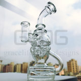 Gldg 8 pollici - tubo di acqua di fumo di vetro dell'uovo favoloso in-linea alto del riciclatore con la giuntura Polished di 14mm