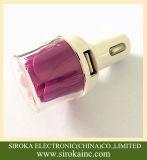 Быстро поручая заряжатель автомобиля сотового телефона USB 2 с типом цветка