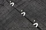 Underbust der Frauen grauer Stahl ohne Knochen reizvolle Korsett-Oberseite