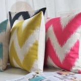 Stampa di tela del cotone cuscini di manovella di colore rosa di 18 pollici per la base