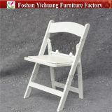 Yc-F30 venden al por mayor las sillas de plegamiento blancas del niño de la resina plástica para la boda