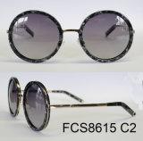 Óculos de sol elegantes de Eyewear do acetato da forma redonda (Ce/FDA)