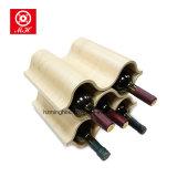 Prateleira de bambu personalizada do vinho para a cremalheira decorativa do vinho da mobília da barra