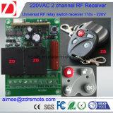 trasmettitore di 2channel 200m rf e ricevente 220V/12V/24V