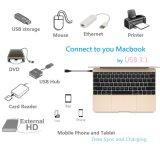 USB 3.0 eine Kontaktbuchse, zum des c-Stecker-Kabels zu schreiben
