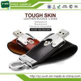 El mejor regalo del negocio de cuero USB de 8 GB USB Drive