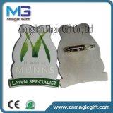 최신 판매 아연 합금 연약한 사기질 접어젖힌 옷깃 Pin 기장
