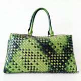 Frauen-lederner Gepäck-Beutel der Markendesign-Dame-PU gesponnener Handtaschen (D1302)