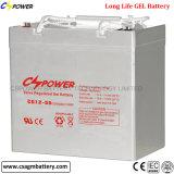 Batterie-Gel-Batterie der Cspower Batterie-12V 55ah wartungsfreie
