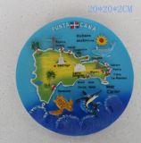 Placas de recuerdos turísticos Polyresin con imagen de mapa para promocionales