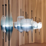 Modern Concise Style Interior Decorativo Hand Blown Art Glass Pendant Light para Sala de Jantar