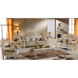 居間の家具(992D)のための木ファブリックソファー