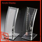 Présentoir acrylique acrylique de collier de crémaillère d'étalage