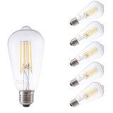 4W 400lm LED Edison Birnen-Heizfaden-Licht-Weinlese-Lampe St48 warnen weißes E27 E14 B22 E26 110V 220V 230V