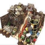 Cour de jeu d'intérieur bon marché, matériel d'intérieur de parc d'attractions, château vilain