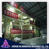 Double machine non-tissée de tissu de s solides solubles pp Spunbond de la Chine 1.6m