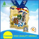 カスタム金属の連続したメダルおよびトロフィまたはスポーツ賞メダルトロフィ