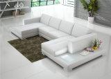 Nuevo sofá casero moderno del cuero blanco con la luz del LED (HC1010)