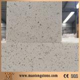 Белый Countertop камня кварца Sparkle, белый камень плакирования стены кварца, цена кварца