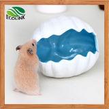 Juguetes azules blancos sólidos de la cerámica del habitat de los hámsteres del estilo del diseño del modelo bien del shell