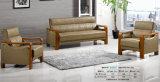 Sofá clásico popular del cuero de la oficina de la silla del hotel del ocio con los apoyabrazos de madera B8905#