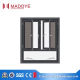 Het nietThermische Openslaand raam van uitstekende kwaliteit van het Aluminium van de Onderbreking met Flyscreen