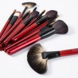 natürliches Kosmetik-Verfassungs-Pinsel-Set des Haar-21PCS mit rotem Beutel