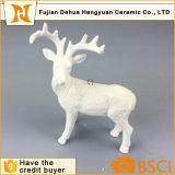 Cabra cerâmica branca Staues para a decoração Home